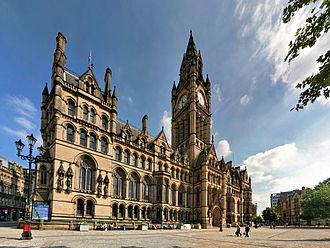 Albert Square, Manchester - Albert Square, overlooked by Manchester Town Hall