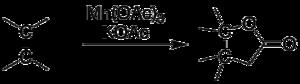 Manganese(III) acetate - Image: Manganese acetate lactone generic