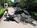Mangled Rooftop Tarpaulin - After-effects Of Northwester - NCSM - Salt Lake City - Kolkata 20170516091534.jpg