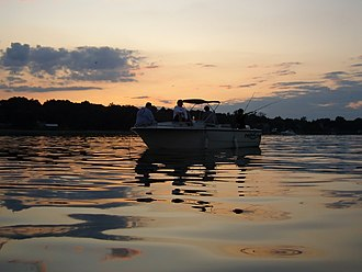 Manhasset Bay - Image: Manhasset Bay West Side Sunset Fishing