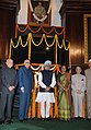 Manmohan Singh, the Speaker, Lok Sabha, Smt. Meira Kumar, the Union Home Minister, Shri Sushilkumar Shinde, the Chairman of the BJP Parliamentary Party.jpg