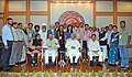 Manmohan Singh with the Awardee Teachers ahead of Teachers' Day, in New Delhi. The Union Minister for Human Resource Development, Dr. M.M. Pallam Raju and the Ministers of State for Human Resource Development (5).jpg