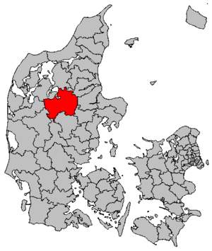 Viborg Municipality - Location of Viborg municipality