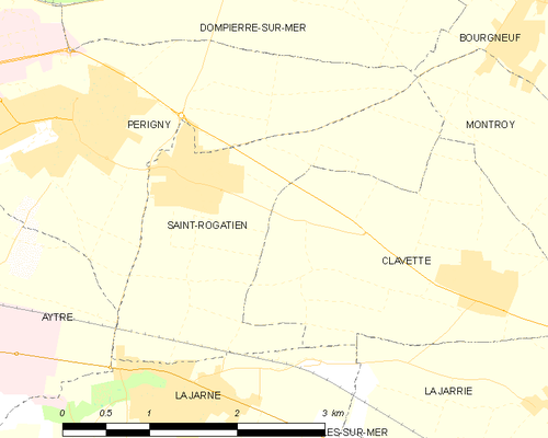 Map of the commune