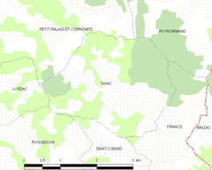 Map commune FR insee code 33526.png