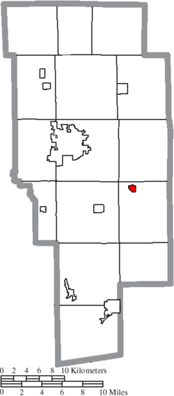 Location of Jeromesville in Ashland County