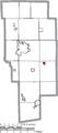 Map of Ashland County Ohio Highlighting Jeromesville Village.png