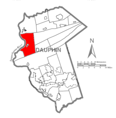 Map of Dauphin County, Pennsylvania Highlighting Halifax Township.PNG