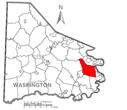 Location of Fallowfield Township in Washington County
