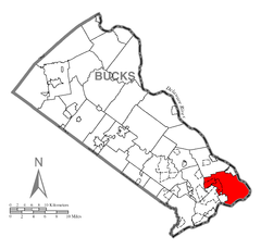 Map of Falls Township, Bucks County, Pennsylvania Highlighted.png