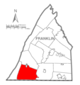 Map of Franklin County, Pennsylvania Highlighting Montgomery Township.PNG