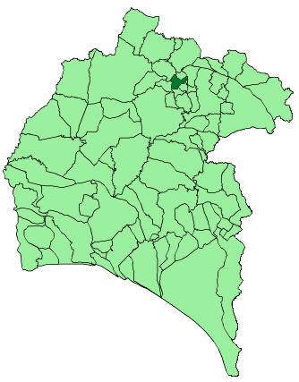 Map of Galaroza (Huelva)