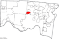 Map of Hamilton County Ohio Highlighting North College Hill City.png