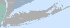 Carte de Long Island.