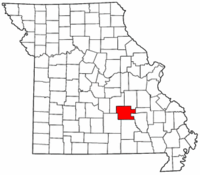 Map of Missouri highlighting Dent County.png