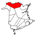 Map of New Brunswick highlighting Restigouche County 2.png