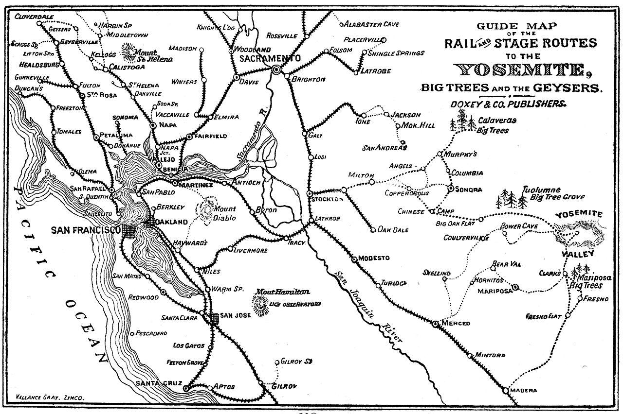Yosemite Park Touren um 1856