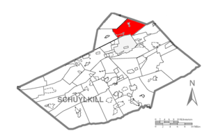 East Union Township, Schuylkill County, Pennsylvania - Image: Map of Schuylkill County, Pennsylvania Highlighting East Union Township