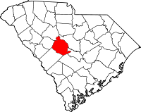Map of South Carolina highlighting Lexington County