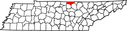Map of Tennessee highlighting Clay County.svg