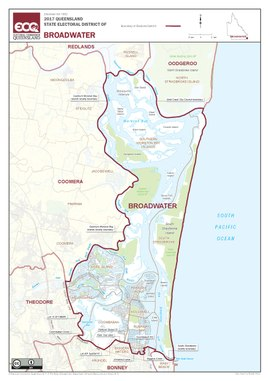 Map of the electoral district of Broadwater, 2017.pdf
