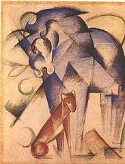 Fabeltiere (Blaues Pferd und roter Hund)