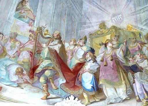 Maria Dreieichen - Fresko a König David