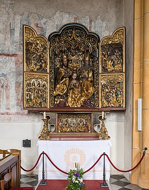 Winged altar at the pilgrimage church Maria Gail, municipality of Villach, Carinthia, Austria. Anonymous master of the Villach Studio, around 1515.