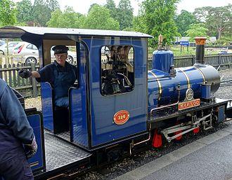 Exmoor Steam Railway - Locomotive Mariloo in Exbury Gardens