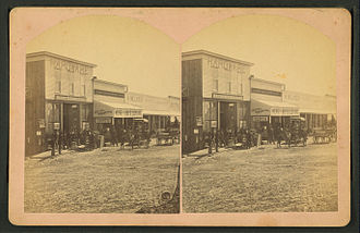 Silver Cliff, Colorado - Image: Market. Cor. Main & Mill Sts., (...) Silver Cliff, Colo, from Robert N. Dennis collection of stereoscopic views