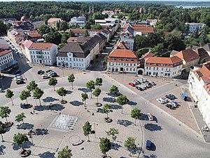 Neustrelitz - View over Neustrelitz market