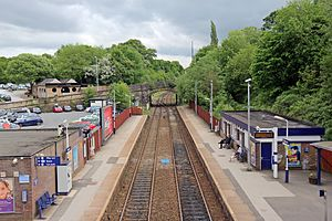 Marple railway station - Marple railway station from the footbridge