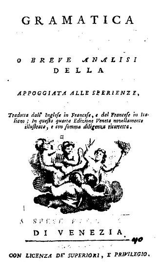 Benjamin Martin (lexicographer) - Gramatica delle scienze filosofiche, 1769