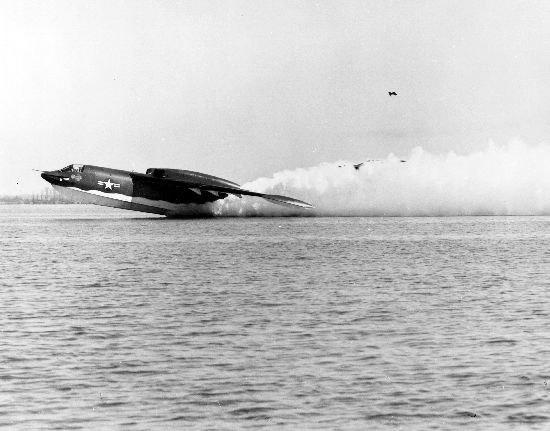Martin P6M-2 Seamaster taking off