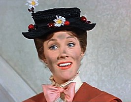 Mary Poppins, hier gespeeld door Julie Andrews