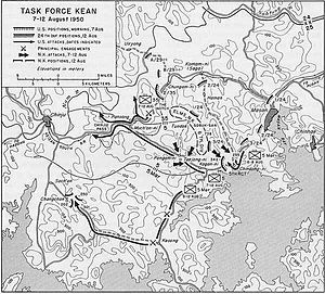 Battle of Masan - US and NK movements around Masan during the Battle of Pusan Perimeter
