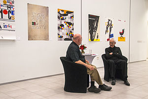 Massimo Vignelli - Massimo Vignelli with R. Roger Remington at the Vignelli Center for Design Studies, RIT, where he was awarded an honorary doctorate in fine arts.