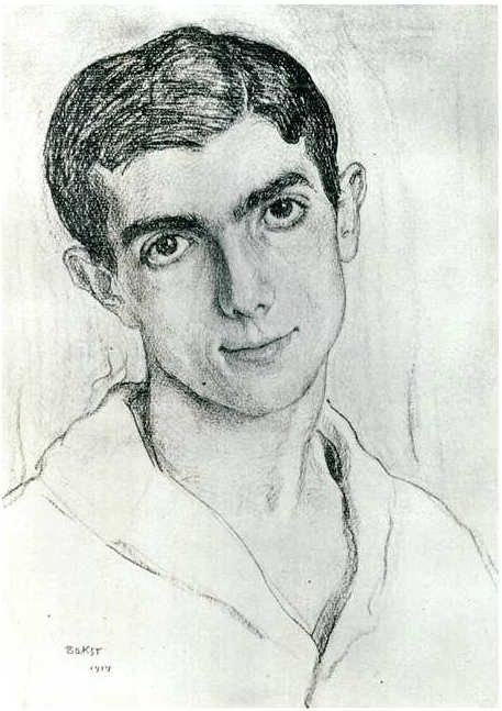 Massine, Leonide (1895-1979) - 1914 - Ritratto da Leon Bakst