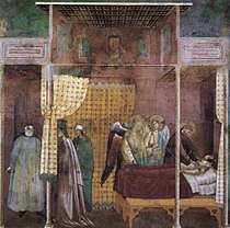 Master of Saint Cecilia - Legend of St Francis - 26. The Healing of a Devotee of the Saint - WGA14478.jpg
