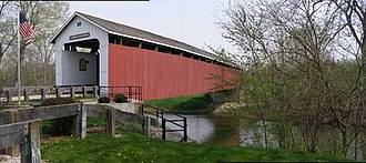 National Register of Historic Places listings in Grant County, Indiana - Image: Matthews Indiana Covered Bridge exterior