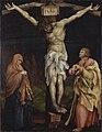 Matthias Grünewald - Christus am Kreuz zwischen Maria und Johannes - 994 - Staatliche Kunsthalle Karlsruhe.jpg