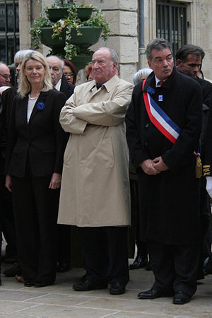 Maurice Faure - Maurice Faure (center) with Marc Lecuru and Dominique Orliac in 2007 in Cahors