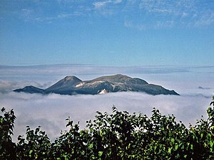 Akan Volcanic Complex - Mount Meakan and Akan Fuji from Mount Oakan (July 2008).