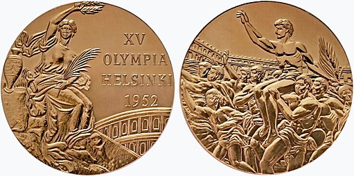 Medal of olympic summer games 1952