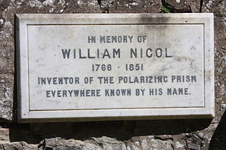 William Nicol (geologist) - Memorial to William Nicol, Warriston Cemetery