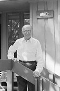 Menahem Begin poses at Camp David 1978