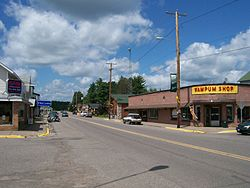 Downtown Mercer in the census-designated place (CDP)