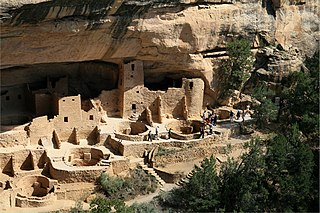 Cliff Palace human settlement in Montezuma County, Colorado, United States of America