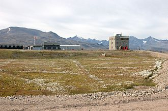 Mestersvig - The outpost seen from the runway