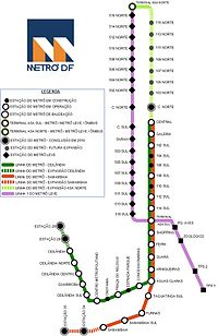Map of the system. Grey dots indicate unopened stations.